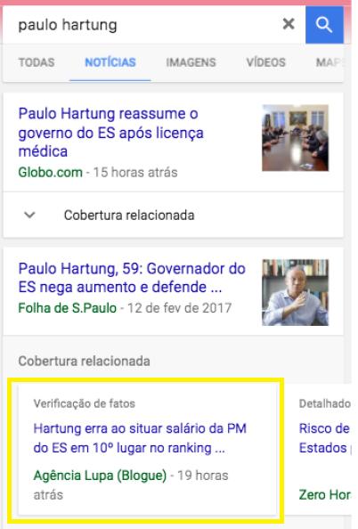Google Notícias e Lupa 2
