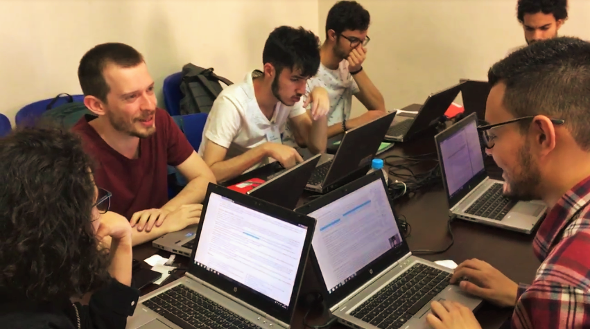 Universitários na Oficina de Checagem da Lupa no Festival piauí Globonews de Jornalismo, em 2016