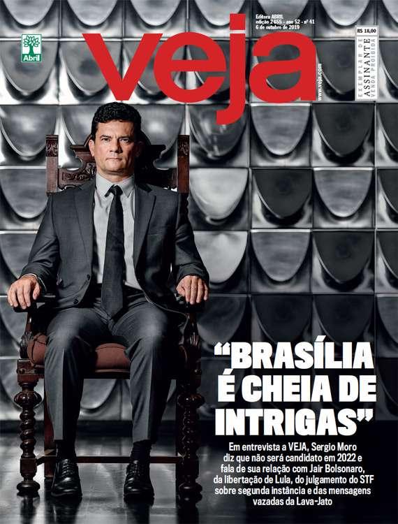 bobina dinámica Volar cometa  Verificamos: É falsa capa de Veja que diz que Moro 'enganou milhões de  brasileiros' | Agência Lupa