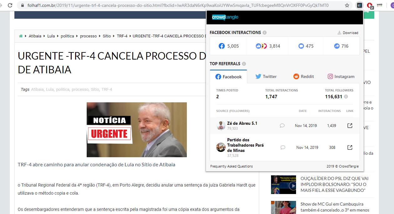 #Check:对于Atibaia网站,TRF-4取消了对Lula的诉讼是错误的