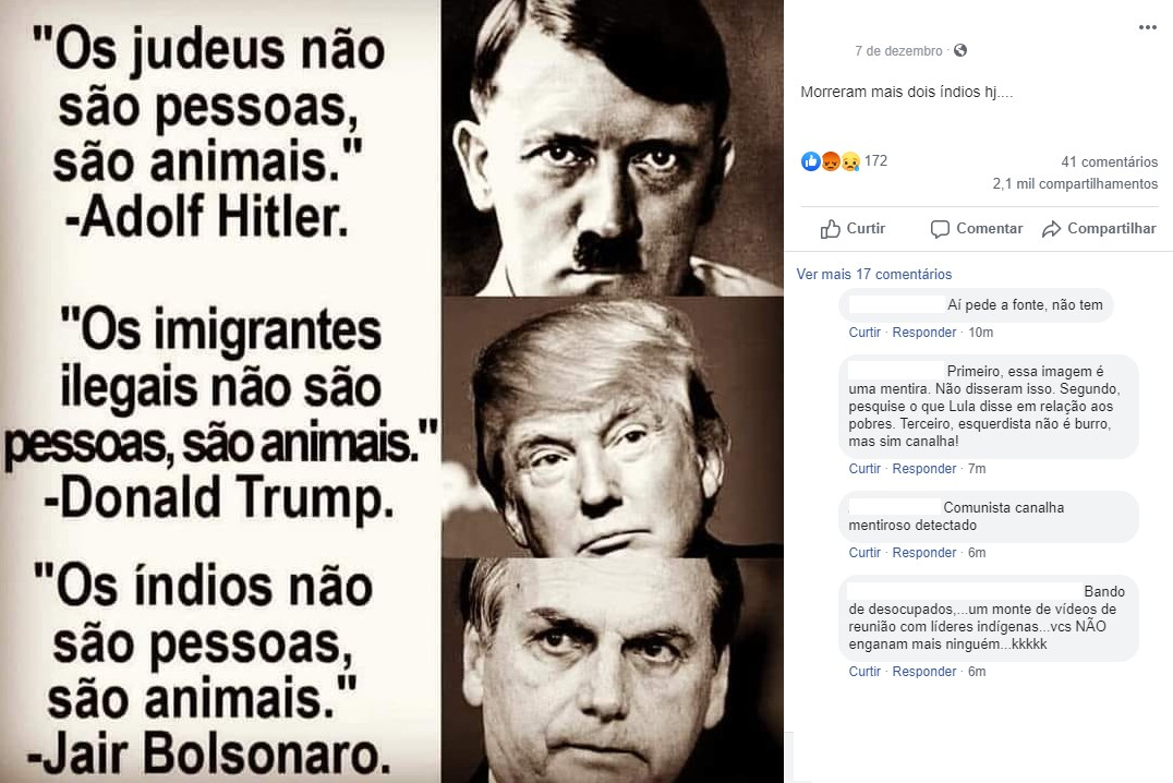 Verificamos: Bolsonaro não disse que 'os índios não são pessoas, são  animais' | Agência Lupa