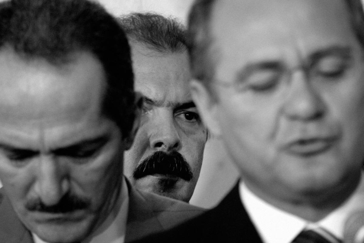 O comunista Aldo Rebelo, o petista Aloizio Mercadante e o oportunista Renan Calheiros. Arautos da conciliação que perpetua o estado de coisas no qual a disputa política não medra