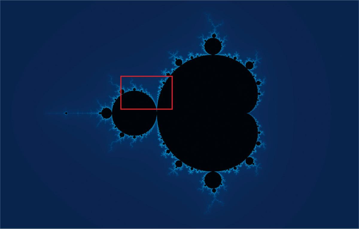 """""""O objeto mais complicado da matemática"""", segundo alguns. Porém, bastam seis toques do teclado para produzi-lo. Mergulhos sucessivos na estrutura revelam uma complexidade crescente"""