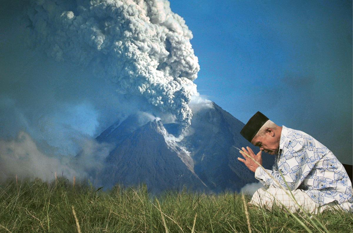 Vovô Maridjan acabou calcinado em postura de oração nas encostas do Merapi, a uma temperatura estimada em mil graus centígrados