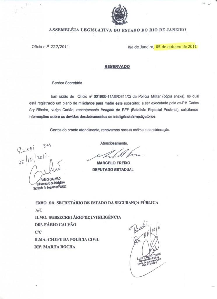 Freixo decide cobrar informações do secretário de Segurança, José Mariano Beltrame