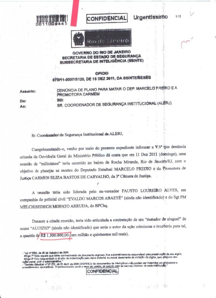 Denúncia recebida através da Ouvidoria Geral do Ministério Público