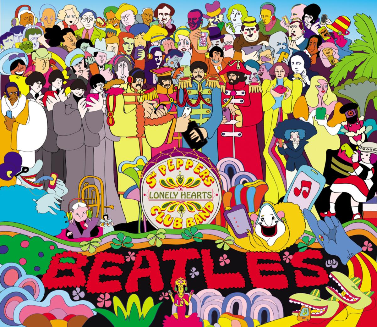 A Lonely Hearts Club Band é a personificação perfeita do que o LP significou. A banda não existe fora do disco, ela é o disco, assim como não existe fora do disco o público da capa, que se propõe como rede de referências para o público fora dela