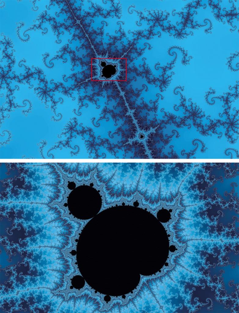 Das profundezas, em meio à multiplicidade de novas formas, surge um ponto negro que, ampliado, é um lembrete da estrutura total que conterá outros lembretes, numa vertigem sem fim