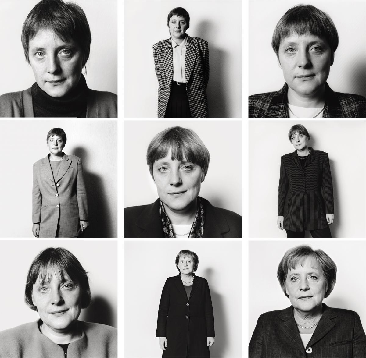 A fotógrafa Herlinde Koelbl retratou Angela Merkel durante anos, a partir de 1991. A moça do Leste que estreava na política da Alemanha reunificada ganhou confiança, mas nunca aparentou vaidade. O jeito de pessoa comum é um trunfo da chanceler