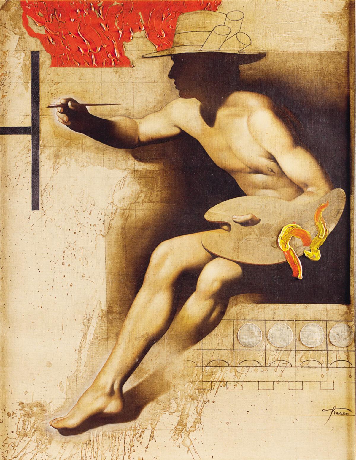 Sérgio Ferro prefere a conversa de ateliê, sobre fatura, ao universo prestigioso de referências culturais que a pintura renascentista assimilou
