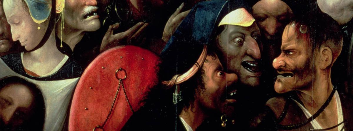 <i>O Caminho da Cruz</i> (detalhe): o povo de Glauber Rocha, que se faz calar com uma bala na boca e se abandona no chão, não ficaria mal ao lado da série de cristos ultrajados que a pintura flamenga nos legou.