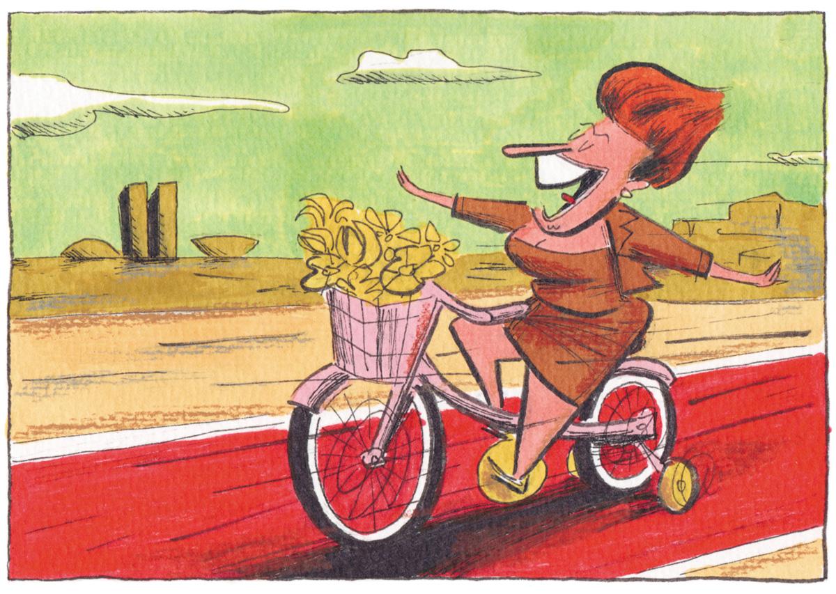 """Mal comprei minha <i>bike</i> e o Temer já veio: """"Não esqueça da minha Caloi."""" É duro ser sustentável"""