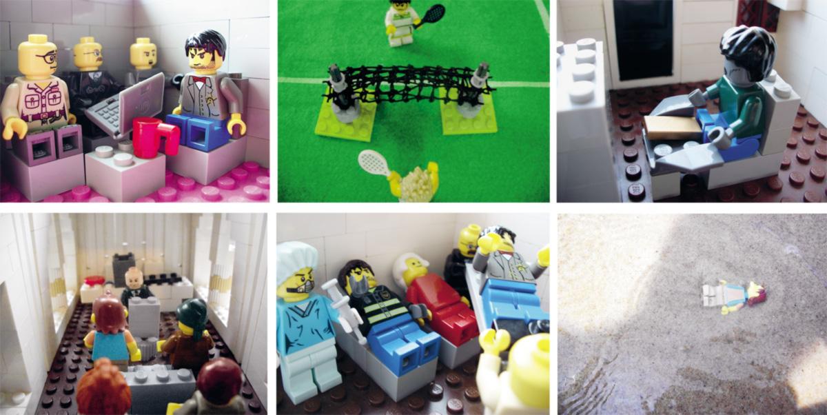 Usando peças de Lego, o professor de língua inglesa Kevin Griffith e seu filho Sebastian, de onze anos, reconstruíram cenas do catatau caleidoscópico de David Foster Wallace