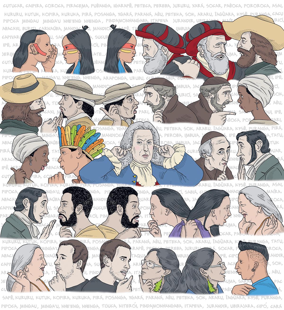 Até 1870, a língua geral, ou nheengatu, foi dominante no Amazonas ─ índios, mestiços, brancos, negros, todos a falavam. Apagou-se a língua e apagou-se também a memória da língua