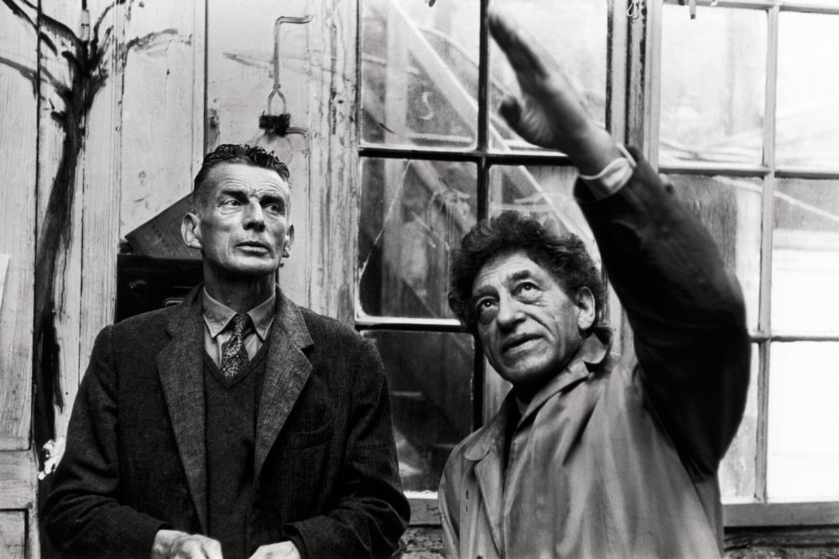 Samuel Beckett com Alberto Giacometti: a obra de ambos tem em comum um arcaísmo radical, como se depois da Segunda Guerra fosse preciso pensar tudo desde o começo mais remoto