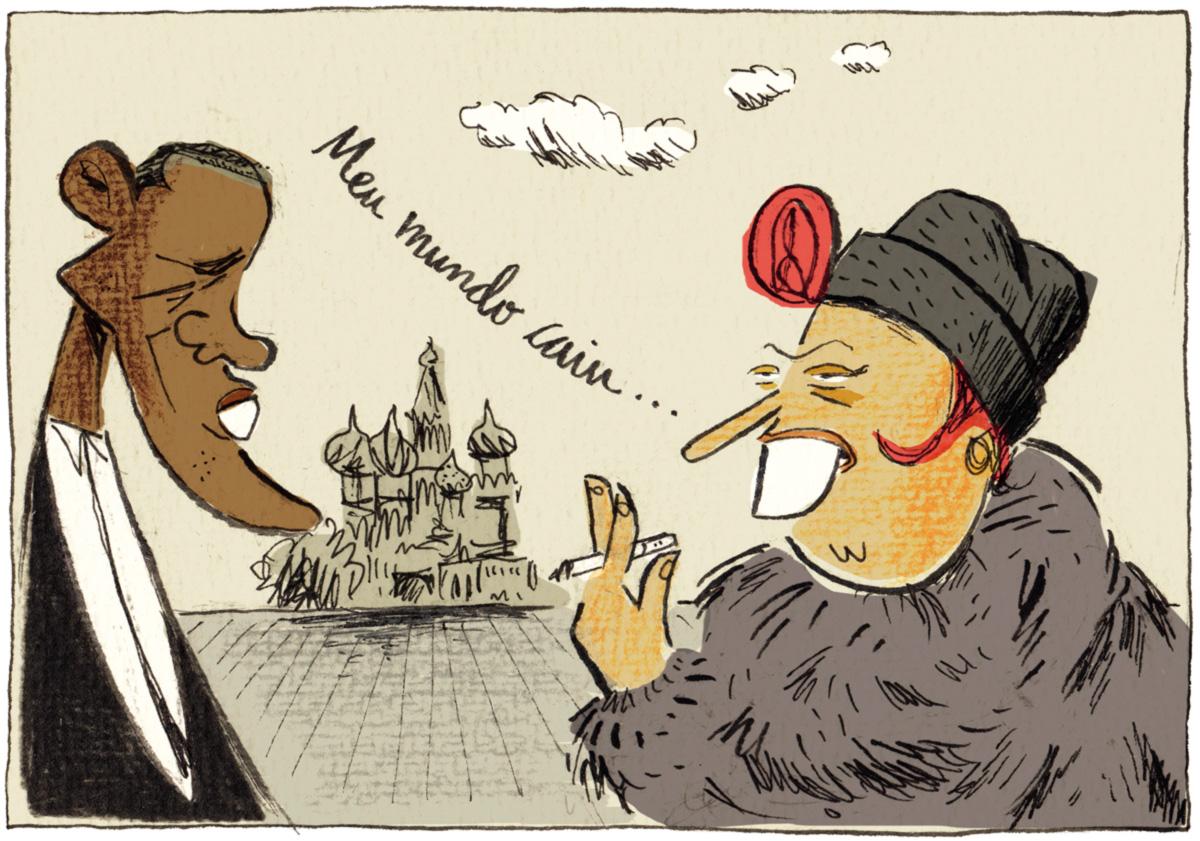 Em Moscou, me baixou uma Maysa e cantei <i>Meu Mundo Caiu</i> para o enxerido do Obama