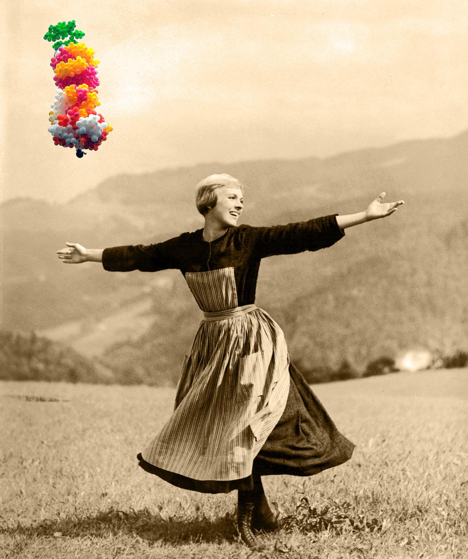O padre dos balões caiu na rede