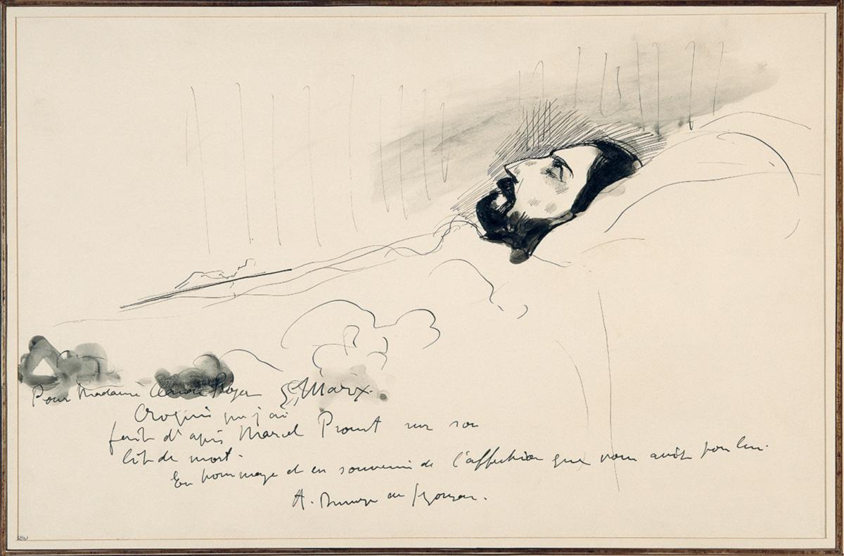 Proust morto: traiu o realismo para ser realista, criou um indivíduo literário num tempo em que os indivíduos reais não significam nada, imersos que estão num mundo prescinde deles