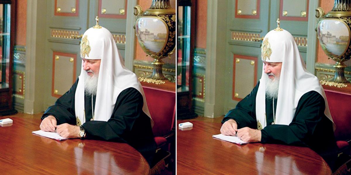 Decididamente, a Rússia não é mais a União Soviética. Insuperável na arte de manipular fotos, o regime de Stálin jamais teria praticado erro tão crasso como o do patriarca Cirilo I