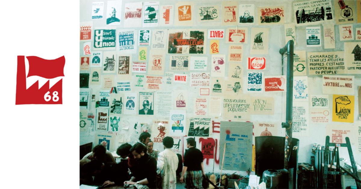 """""""Camaradas, manter os locais de trabalho limpos também é participar nas lutas do povo"""", diz um dos cartazes. Nenhum estudante foi morto em maio de 1968. Os políticos não foram atacados. Os slogans nunca incitaram os manifestantes a fazer nada que provocasse prejuízo sério"""