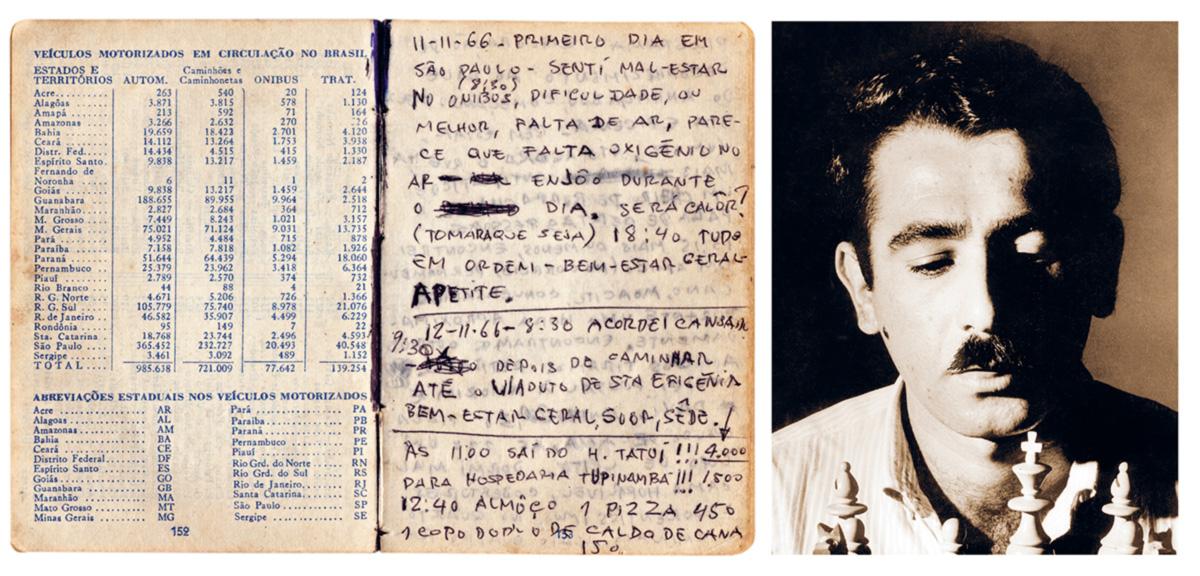 """""""Esse negócio de ficar um caderno na mão tomando nota das coisas me dá um ar de importância, pareço um repórter. A polícia pedia para ver a carteira de identidade de todo mundo, só não pedia a minha"""""""