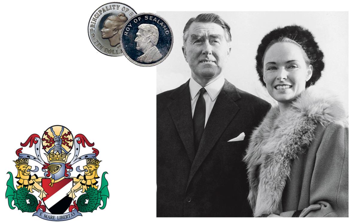 Bates se autodeclarou príncipe do menor país do mundo e deu à mulher o título de princesa
