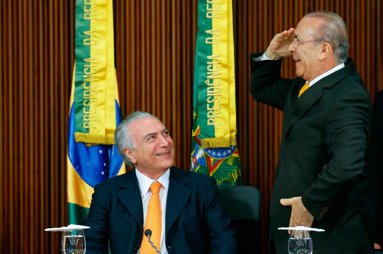 Temer e Padilha durante reunião no Palácio do Planalto, em setembro do ano passado