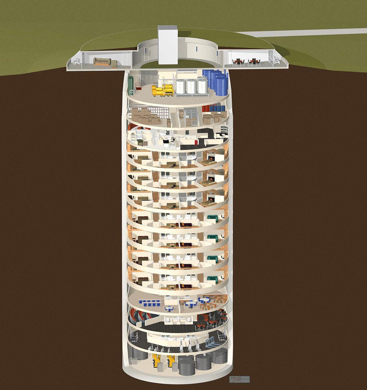 No estado do Kansas, nos Estados Unidos, um silo de mísseis foi convertido num complexo subterrâneo de 15 andares com apartamentos de luxo, capaz de abrigar 75 pessoas por até 5 anos