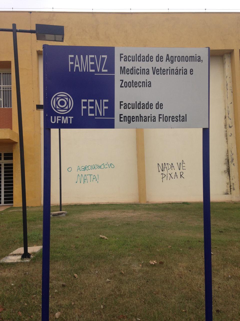 Prédio da Universidade Federal de Mato Grosso, em Cuiabá, 2015.