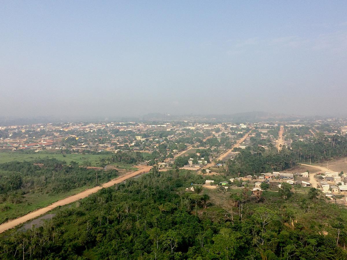 Vista aérea de Novo Progresso, Pará.