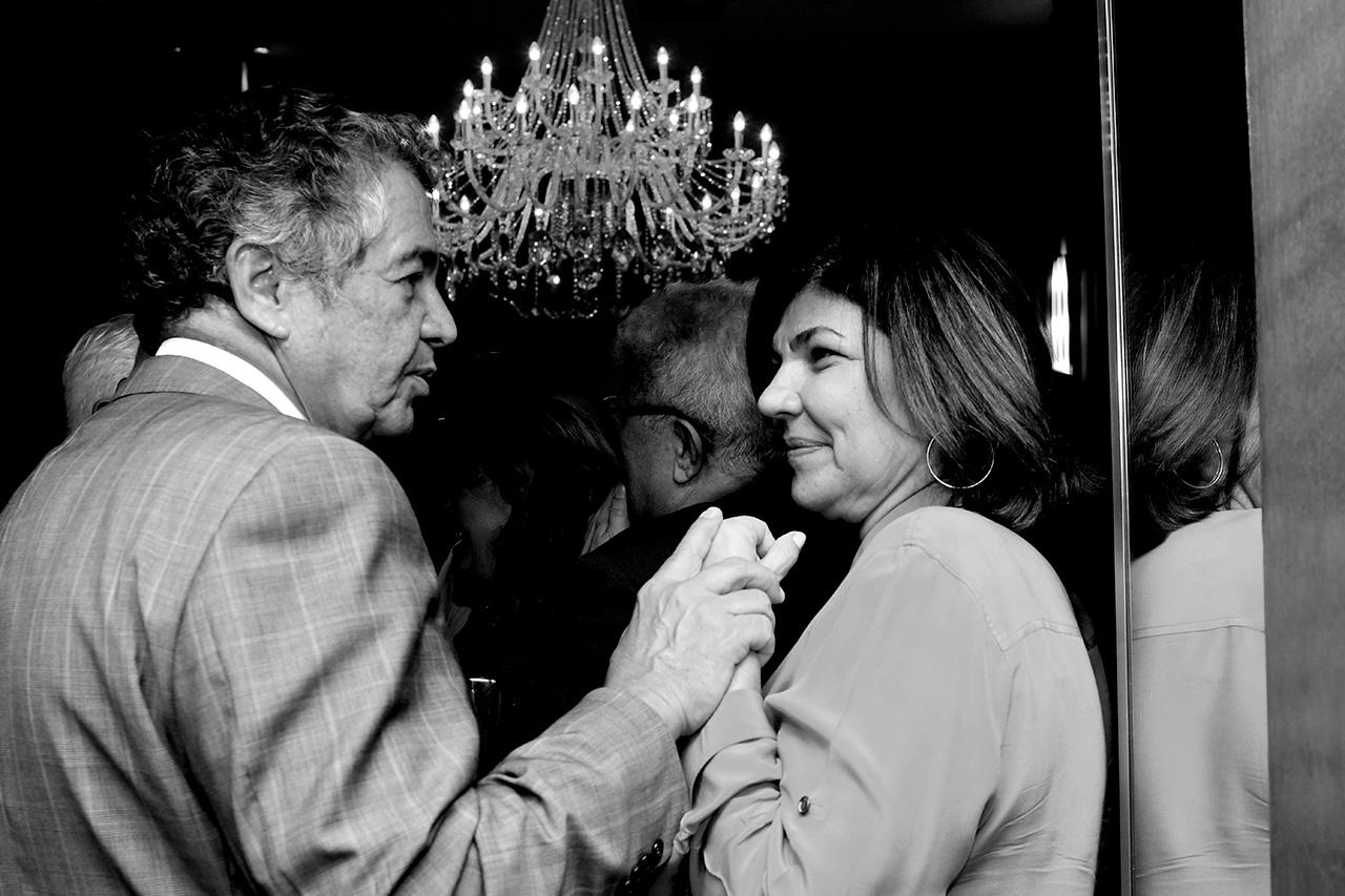 Marco Aurélio Mello e Cristiana Lôbo, jornalista da GloboNews
