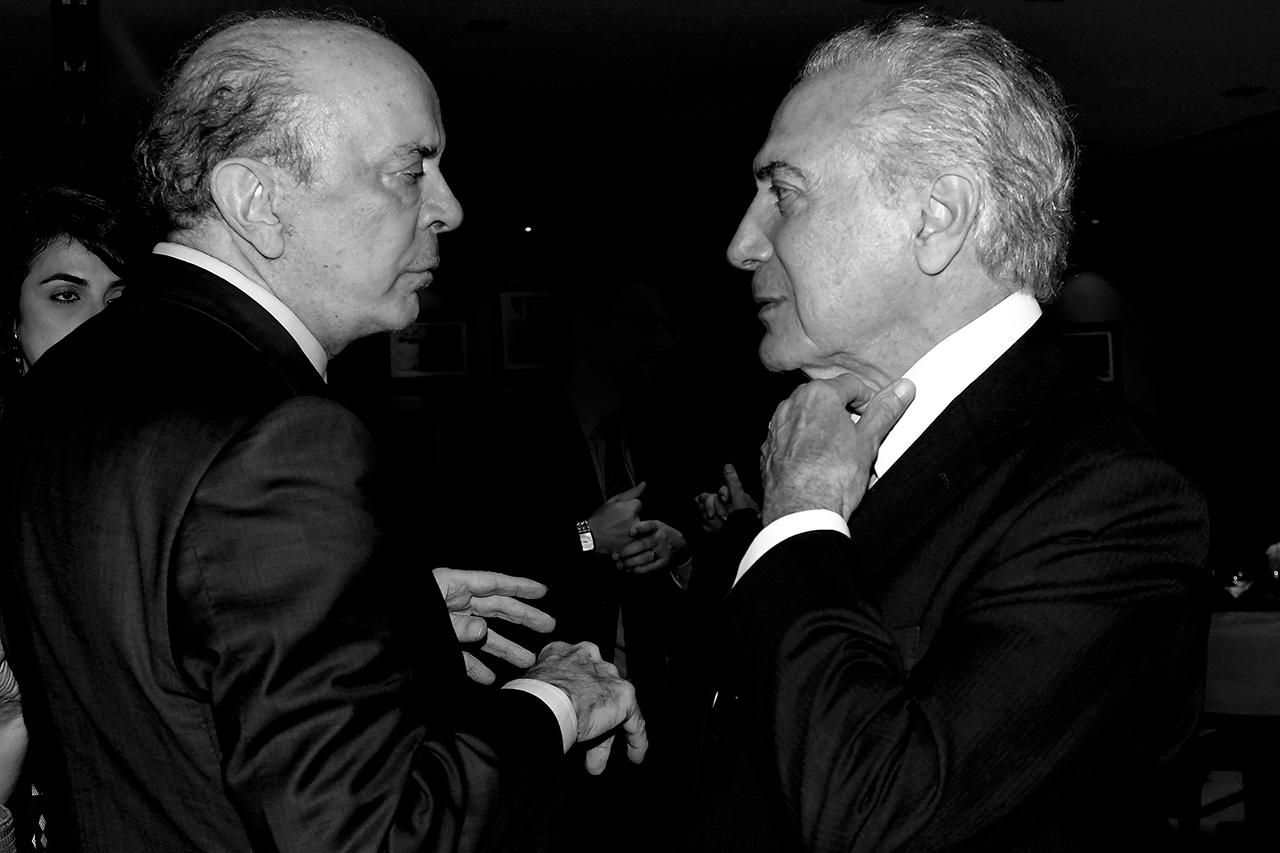 José Serra, senador pelo PSDB-SP, e Michel Temer