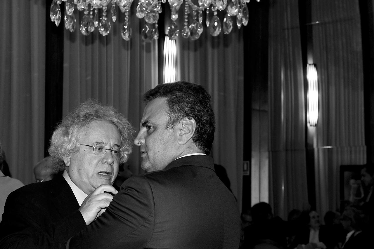 Paulo Delgado, ex-deputado federal e Aécio Neves, senador do PSDB-MG