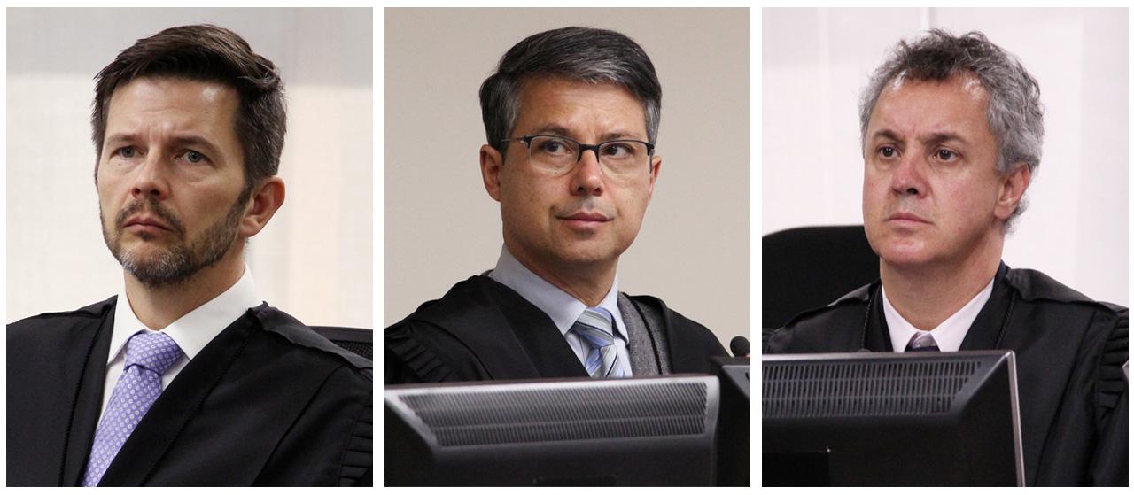 Paulsen, Laus e Gebran: com caneta pesada, os desembargadores de Porto Alegre costumam confirmar – e até aumentar – as sentenças de Curitiba. Sobre um deles, pesa a fama de ser amigo pessoal de Sérgio Moro.