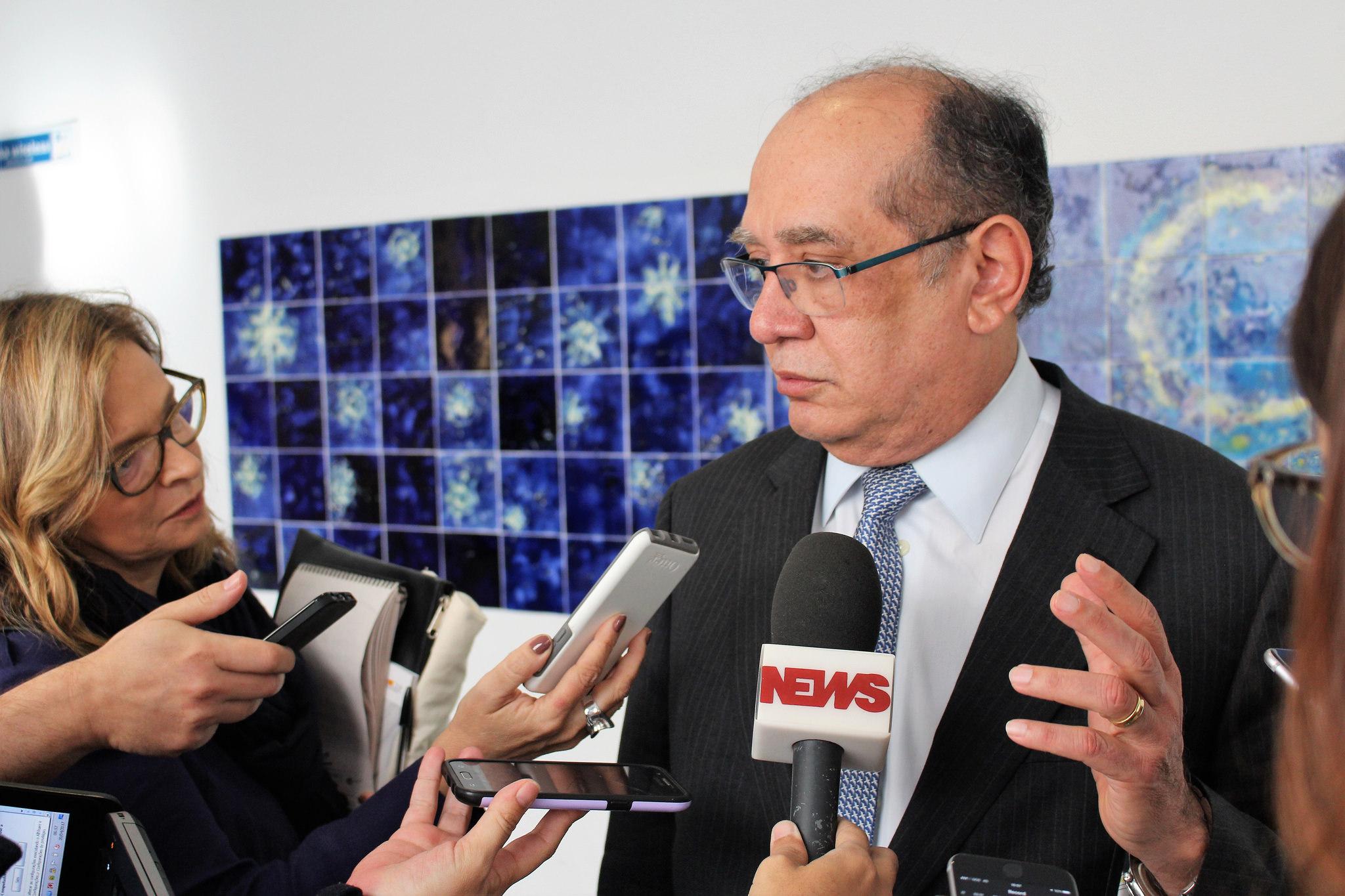 O ministro durante um seminário de direito em Portugal, organizado pela empresa da qual é sócio: 250 mil reais de Itaipu.