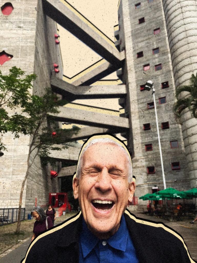 """Frampton, em visita ao Sesc Pompeia, na capital paulista, há duas semanas: """"<i>Stararchitects</i> não se importam com os lugares onde constroem. É difícil aceitar o que fazem Gehry, Koolhaas, mesmo o Oscar Niemeyer no fim da carreira. Eles se tornaram uma paródia de si mesmos"""""""