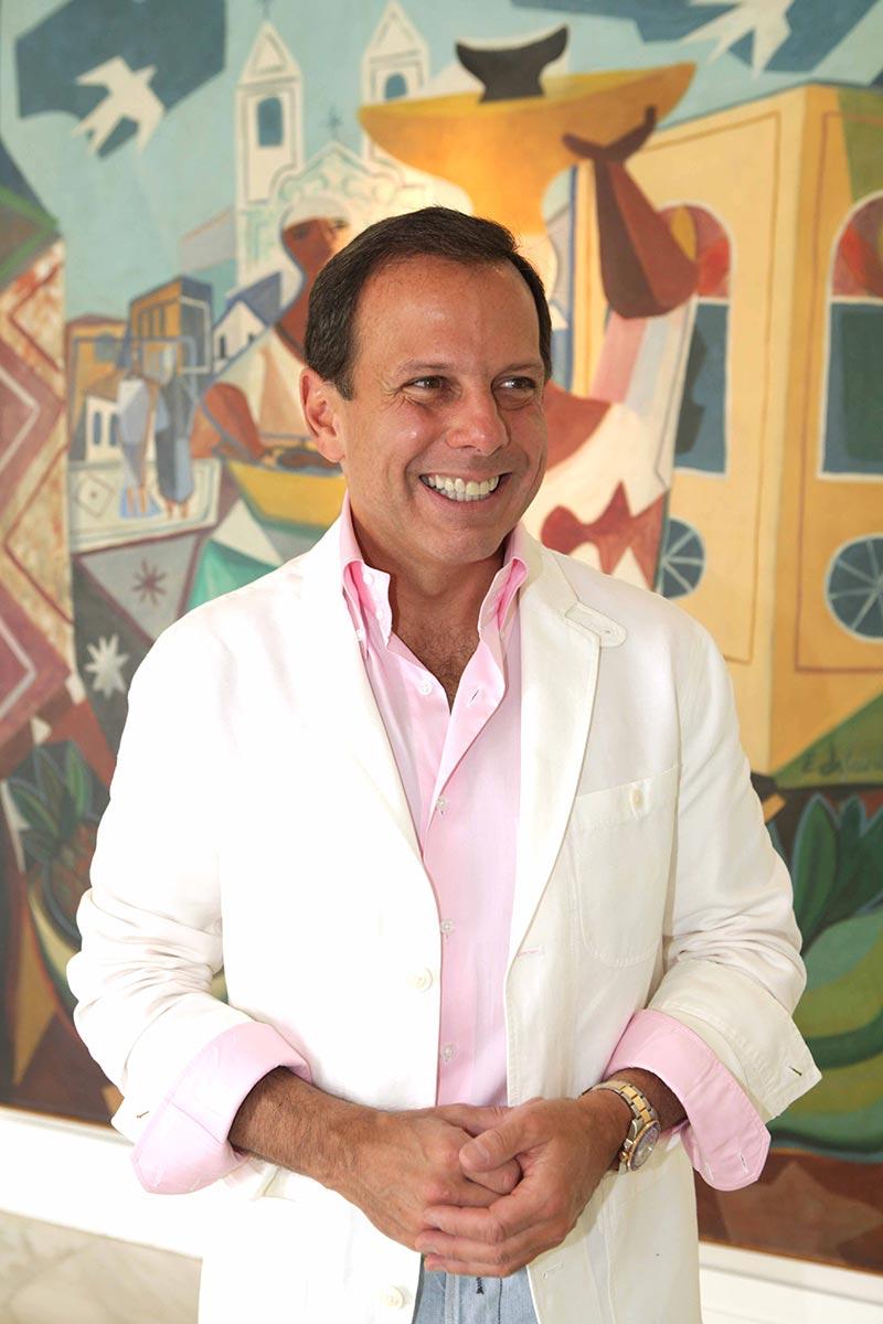 Durante o evento, João Doria vestiu sua nova criação: a fantasia de prefeito de Miami