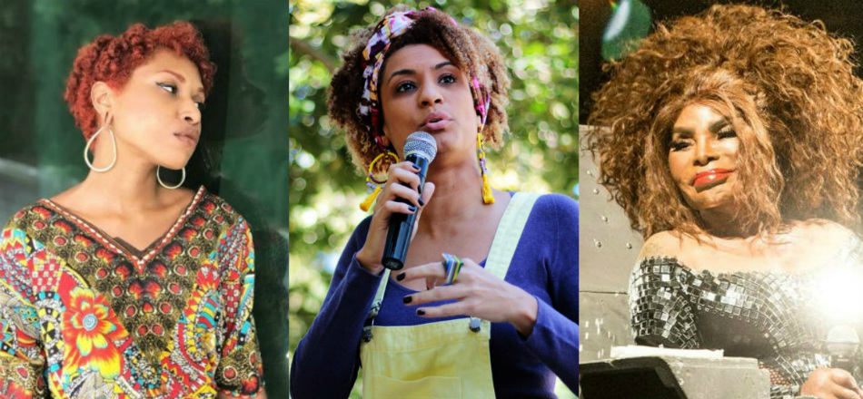 Milena Martins, 17, Marielle Franco, 38, e Elza Soares, 80 – no centro da repercussão, no Twitter, do assassinato da vereadora do PSOL