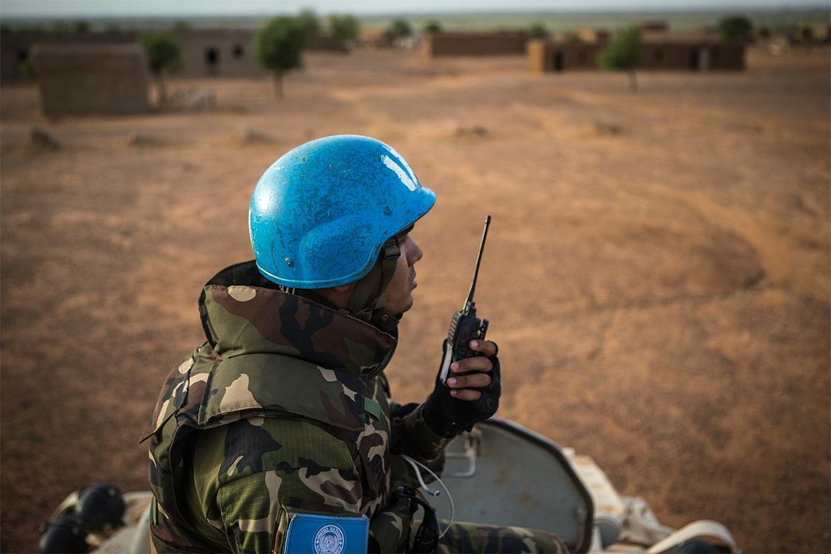 Soldado da missão de paz da ONU na República Centro-Africana