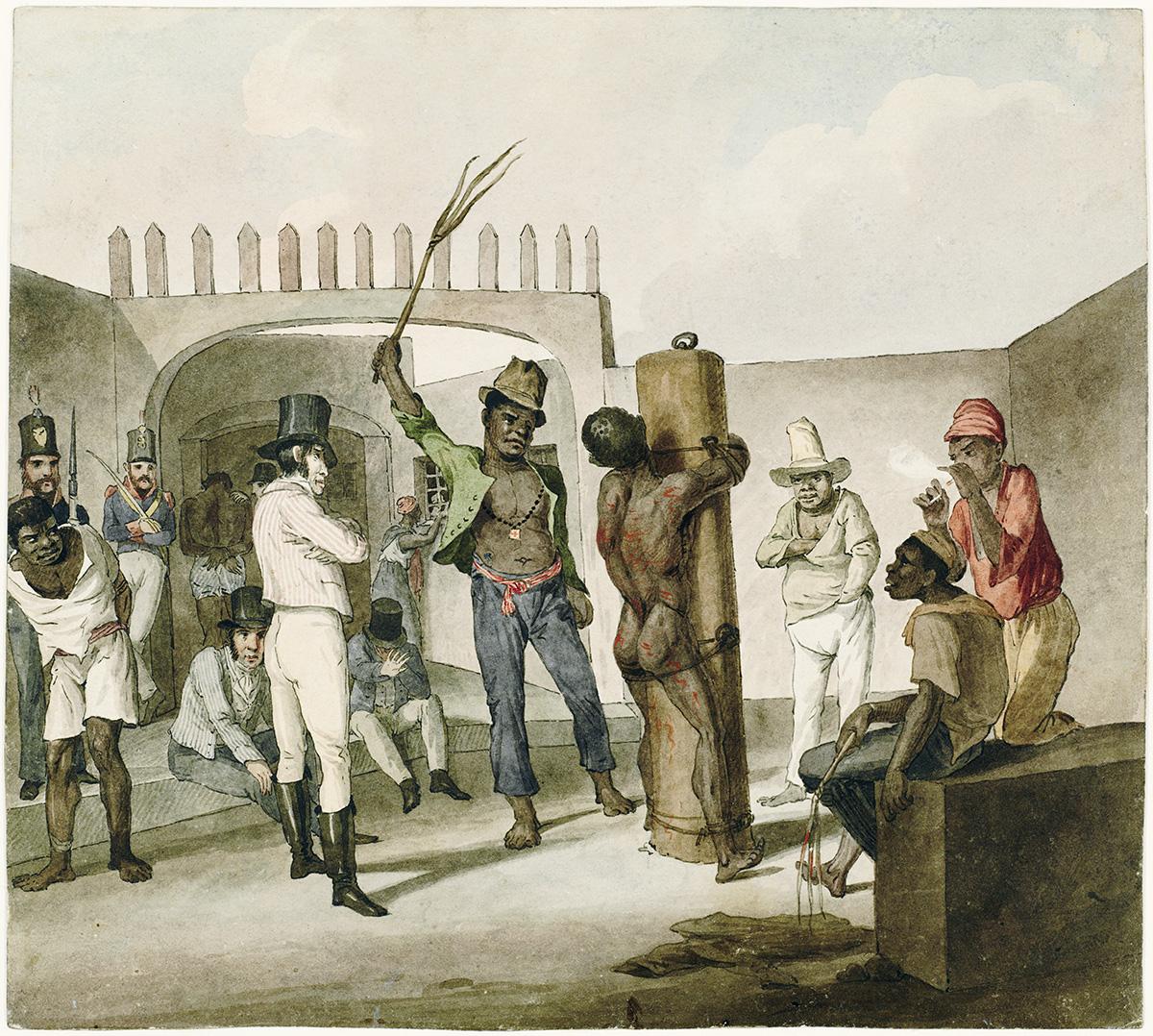 """""""As punições no Calabouço são tão assustadoramente severas, que nenhum senhor humano mandaria para lá um escravo que não fosse irremediável"""", escreveu o inglês John Luccock, que viveu na cidade do Rio de Janeiro no começo do século XIX"""