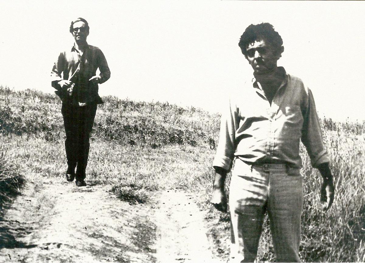Godard e Glauber na filmagem de <i>Vento do Leste</i>, em Roma, em 1969