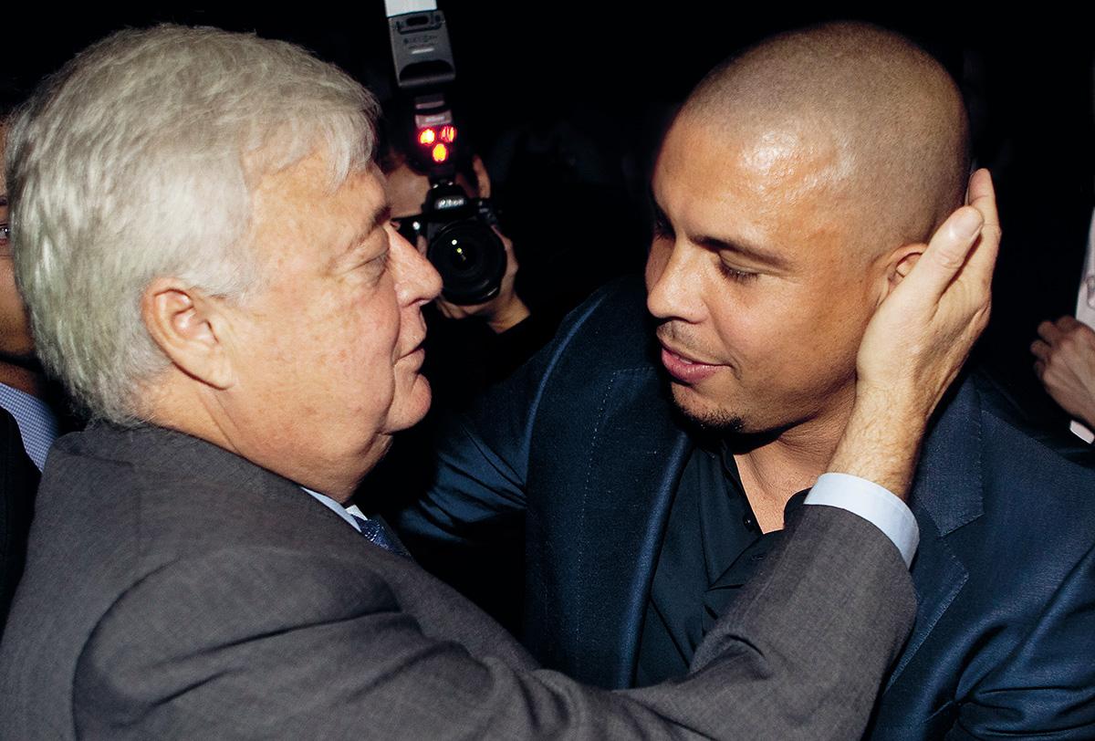 Em 2010, na festa de milhões da Traffic, Ronaldo