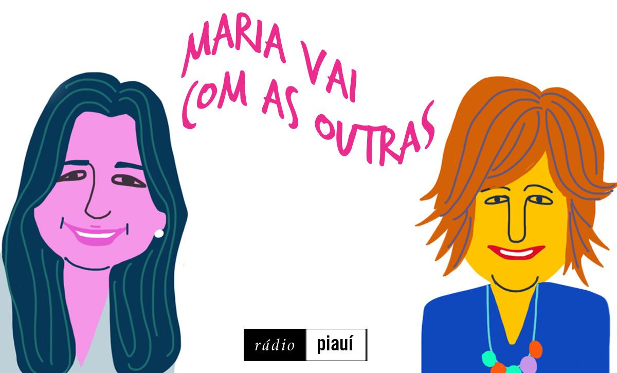 Patrícia Queiroz e Eugênia Moreyra, as convidadas do primeiro episódio, pelo traço do ilustrador Caio Borges