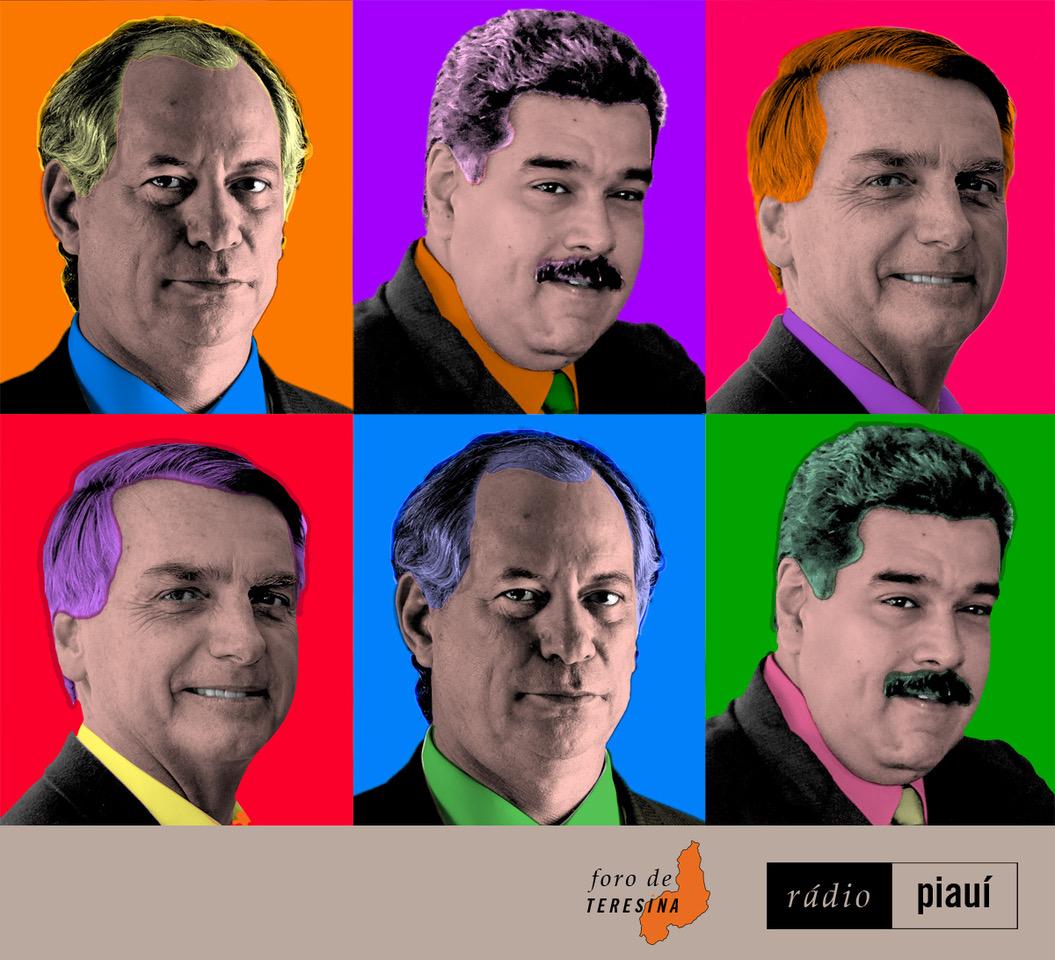 Enquanto Ciro testa novas vestes, Maduro intensifica golpe a conta-gotas na Venezuela e Bolsonaro impõe desafio ao jornalismo.