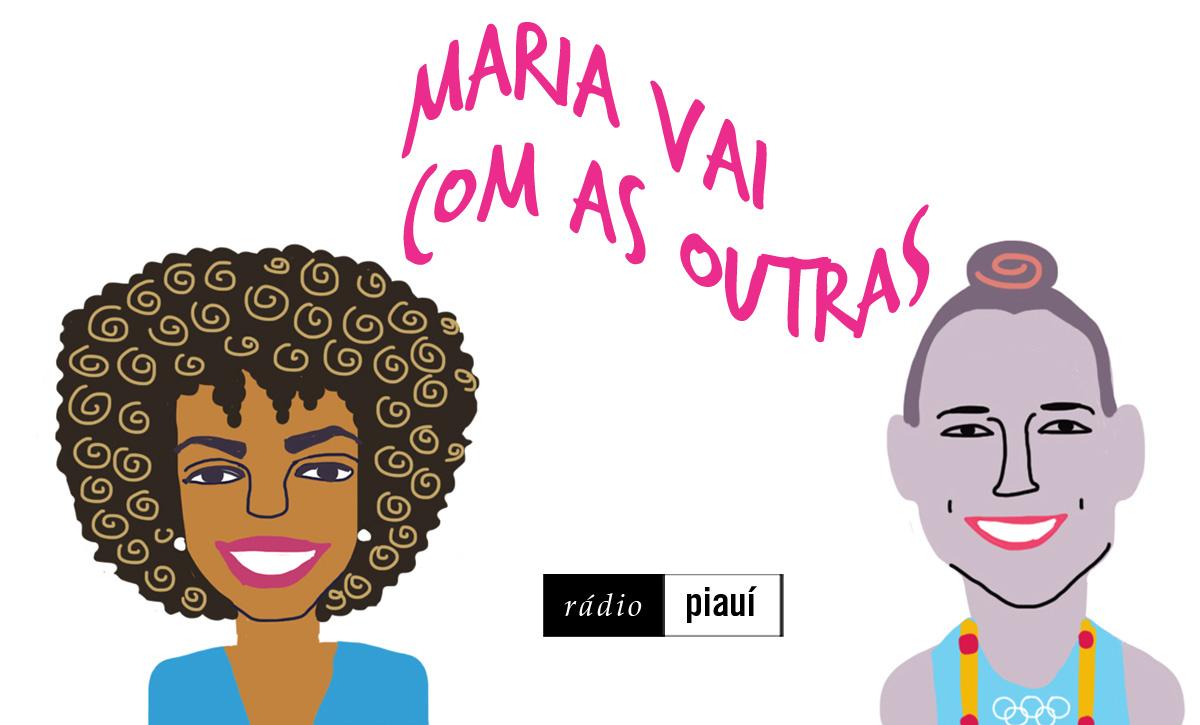 Cynthia Martins e Isadora Cerullo, convidadas do terceiro episódio, pelo traço do ilustrador Caio Borges