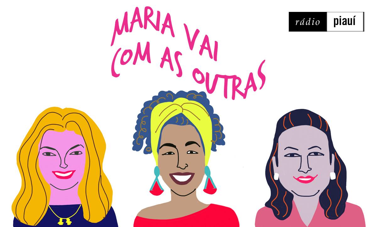 Patrícia Bezerra, Talíria Petrone e Kátia Abreu, convidadas do quinto episódio, pelo traço do ilustrador Caio Borges