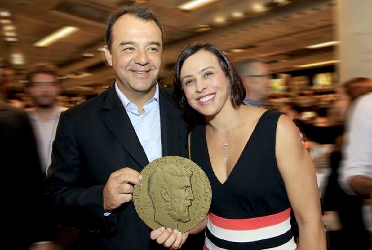 Fontes dão conta de que Adriana Ancelmo teria achado a medalha brega e barata