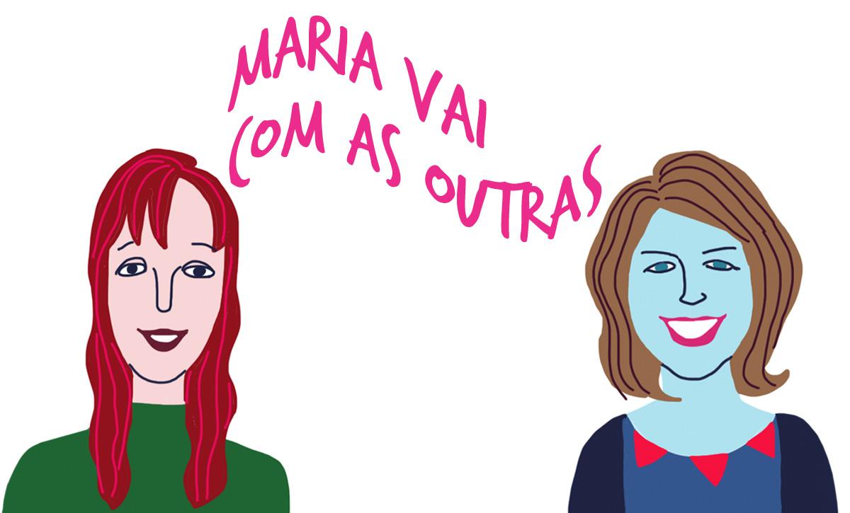 As convidadas Leila da Róz e Glaucia Bohusch, pelo traço do ilustrador Caio Borges.