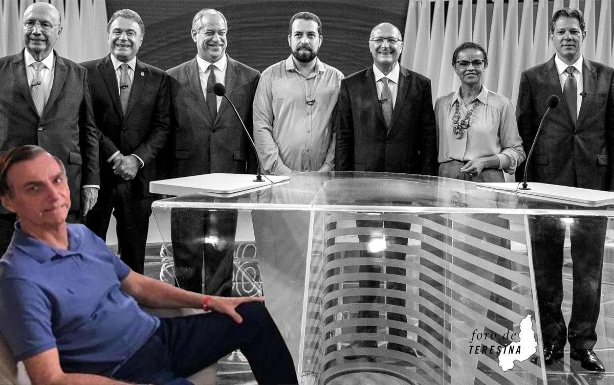 Isolado nas pesquisas, Bolsonaro preteriu o debate com outros candidatos para conceder uma entrevista confortável à Record