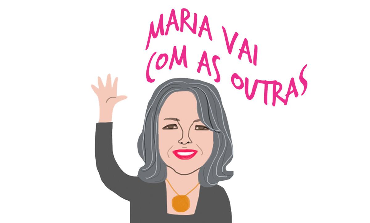A convidada Rosiska Darcy de Oliveira pelos traços do ilustrador Caio Borges